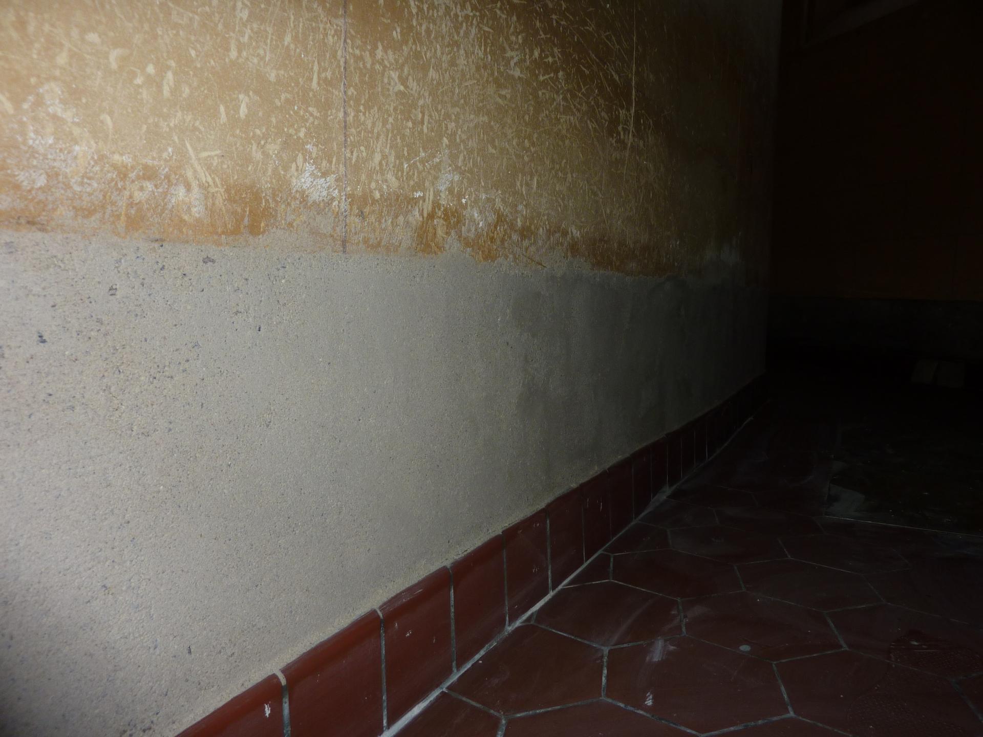 Purge du mur du chœur côté sacristie